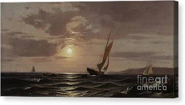 Moonlit Canvas Print - Afternoon Sun by Francis Augustus Silva