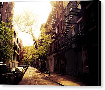 Afternoon Sunlight On A New York City Street Canvas Print by Vivienne Gucwa
