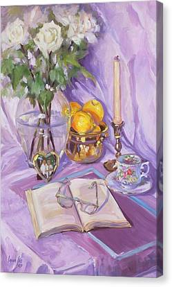 Afternoon Tea Canvas Print by Laura Lee Zanghetti