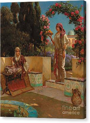 Afternoon Tea  Canvas Print by Rudolphe Ernst