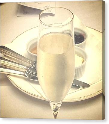 Afternoon Tea With Champagne Canvas Print by In Plain Sight