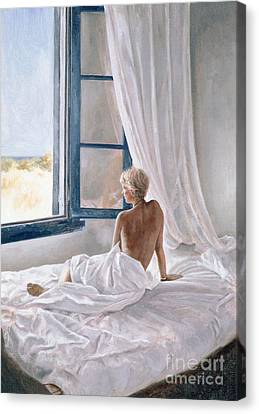 Watching Canvas Print - Afternoon View by John Worthington