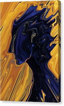 Canvas Print featuring the digital art Against The Wind by Rabi Khan