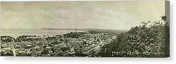 Agana Capital Of Guam Panorama Canvas Print by eGuam Panoramic Photo