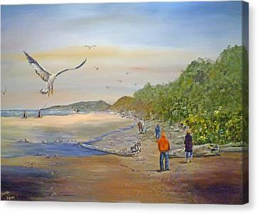 Agate Beach Canvas Print by Betty Florea