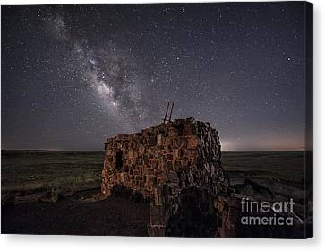 Agate House At Night Canvas Print by Melany Sarafis