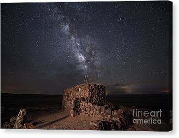 Agate House At Night2 Canvas Print by Melany Sarafis
