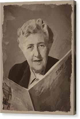 Agatha Christie 3 Canvas Print by Afterdarkness