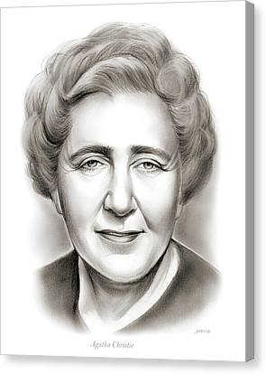 Agatha Christie Canvas Print by Greg Joens
