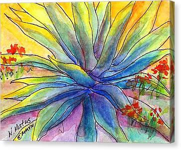 Agave Canvas Print by Nancy Matus