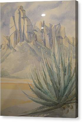 Canvas Print featuring the painting Agave by Steven Holder