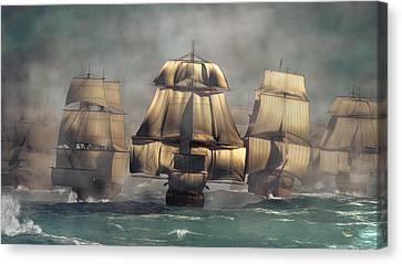 Age Of Sail Canvas Print by Daniel Eskridge
