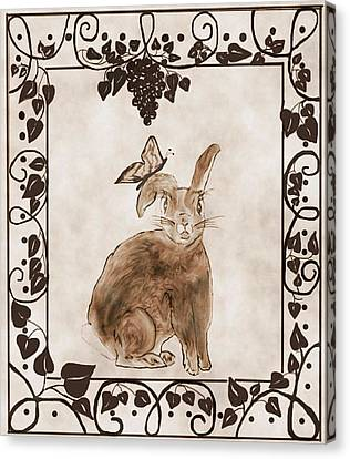 Aged Bunny Canvas Print