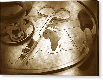 Aged Medical Tools Canvas Print by Phill Petrovic