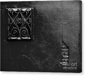 Aged Window And Wall Canvas Print