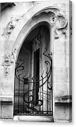 Agen Art Nouveau Gate And Door Canvas Print by Georgia Fowler