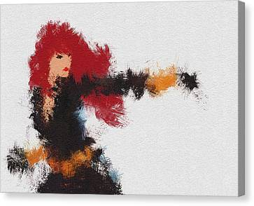 Natasha Canvas Print - Agent Red by Miranda Sether
