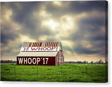 Canvas Print featuring the photograph Aggie Barn by David Morefield