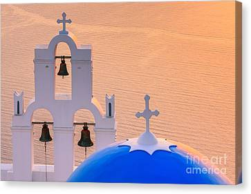 Greek Icon Canvas Print - Aghioi Theodoroi Church At Firostefani, Santorini by Henk Meijer Photography