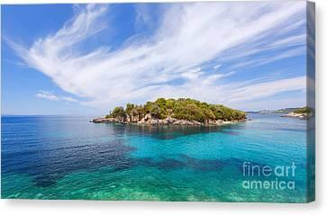 Panagia Canvas Print - Agia Paraskevi Beach, Sivota Greece by Slavica Stajic