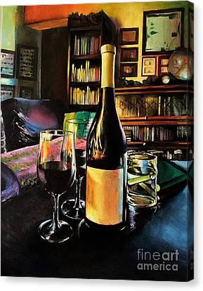 Aglianico Wine On Christmas Eve Canvas Print by Alessandra Andrisani