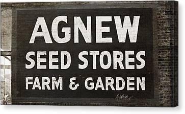 Agnew Seeds Roanoke Virginia Canvas Print by Teresa Mucha
