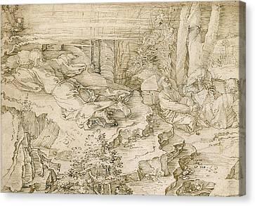 Albrecht Canvas Print - Agony In The Garden by Albrecht Durer