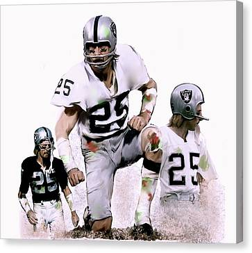 Canvas Print featuring the painting Agony Of Greatness, Vii  Fred Biletnikoff  by Iconic Images Art Gallery David Pucciarelli