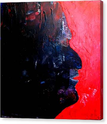 Agony -- Self-portrait Canvas Print by Bruce Combs - REACH BEYOND