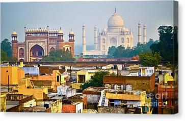 Agra Rooftop Canvas Print by Derek Selander