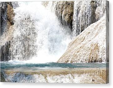 Canvas Print - Agua Azul Waterfall Chiapas Mexico by Linda Queally