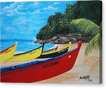 Aguadilla Crashboat Beach Canvas Print by Gloria E Barreto-Rodriguez