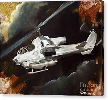 Ah-1w Cobra Canvas Print by Stephen Roberson
