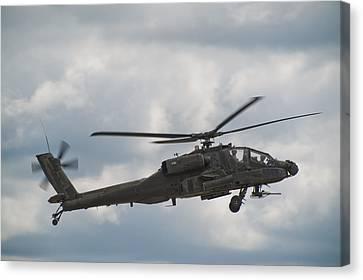 Ah-64 Apache Canvas Print by Sebastian Musial