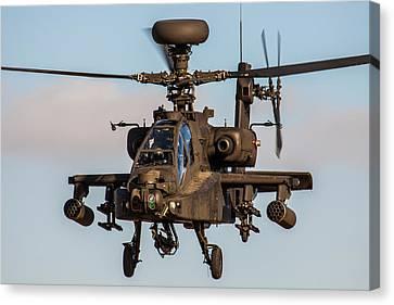 Ah64 Apache Flying Canvas Print