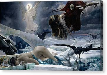 1933 Canvas Print - Ahasuerus At The End Of The World by Adolph Hiremy Hirschl