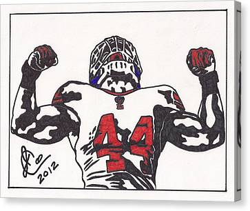 Canvas Print featuring the drawing Ahmad Bradshaw by Jeremiah Colley
