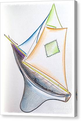 Ahoy Canvas Print by Barbara Chase