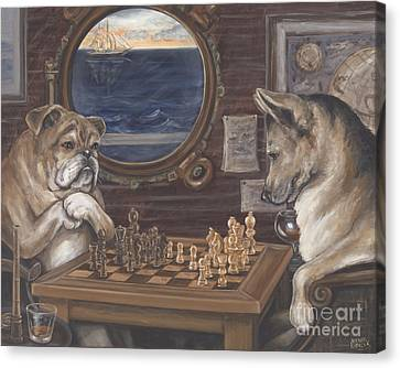 Ahoy Checkmate Canvas Print by Wendy Alibozek