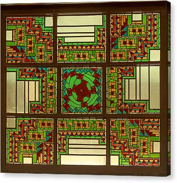 Ahwahnee Stained Glass Canvas Print