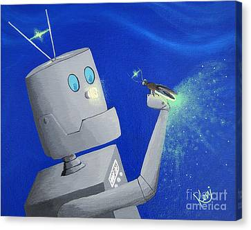 A.i. And The Firefly Canvas Print by Kerri Ertman