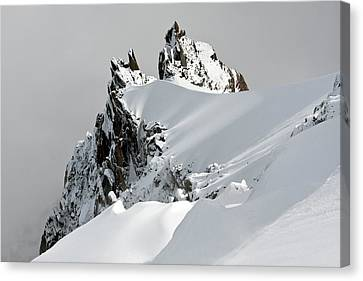 Winter Landscapes Canvas Print - Aiguille Du Midi by Ellen van Bodegom