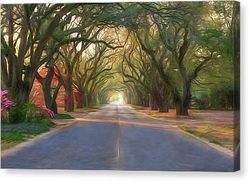Aiken South Boundary Avenue Canvas Print