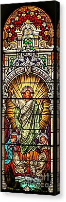 Canvas Print featuring the photograph Stained Glass Scene 10 Crop by Adam Jewell