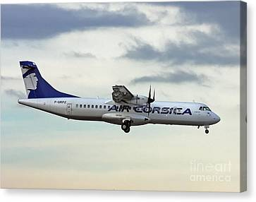 Air Corsica Atr 72-212a - F-grpz Canvas Print by Amos Dor