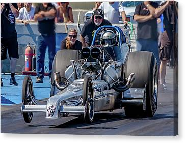 Drag Racing Canvas Print - Air Force Dragster by Bill Gallagher
