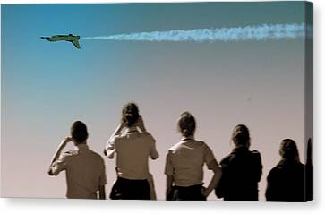 Canvas Print featuring the photograph Air Force In Force by Karen Musick