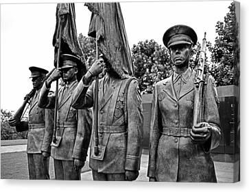 Air Force Memorial - Honor Guard Sculpture Canvas Print by Brendan Reals