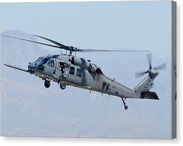 Air Force Sikorsky Hh-60g Blackhawk 90-26228 Mesa Gateway Airport March 11 2011 Canvas Print by Brian Lockett
