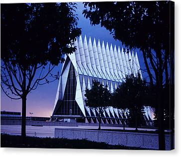 Air Force The Cadet Chapel Canvas Print by GerMaine Photography